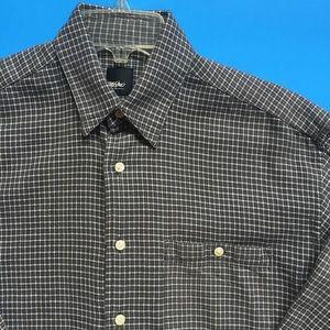 Mossimo Grey Long Sleeve Dress Shirt Button Down